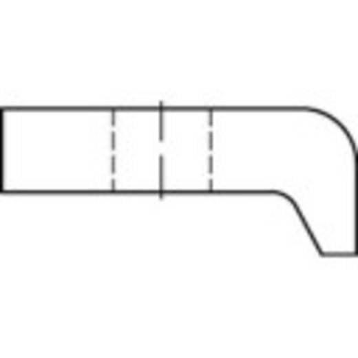 TOOLCRAFT Klemplaten DIN 3568 18 mm Staal thermisch verzinkt 1 stuks