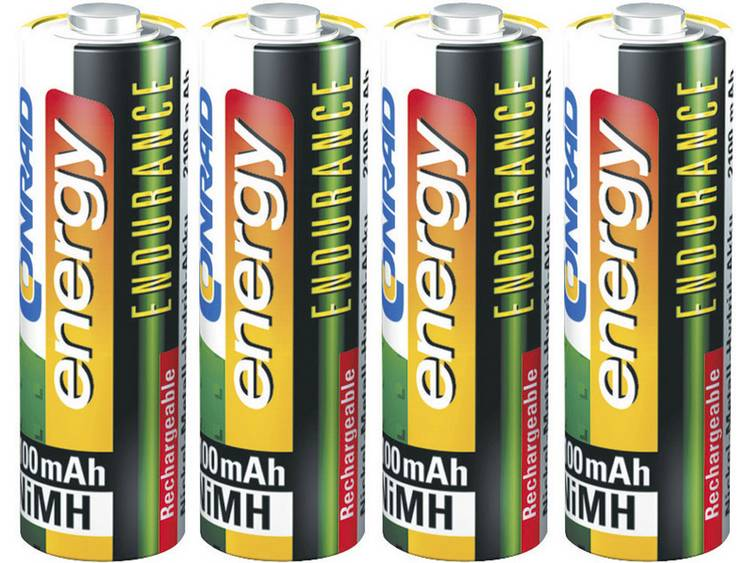Conrad energy Endurance HR06 Oplaadbare AA batterij (penlite) NiMH 2600 mAh 1.2 V 4 stuk(s)