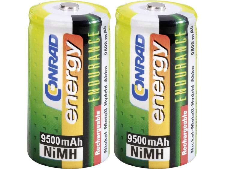 Conrad energy Endurance HR20 Oplaadbare D batterij (mono) NiMH 9500 mAh 1.2 V 2 stuk(s)