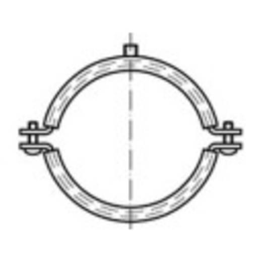 TOOLCRAFT Schroefbuisklemmen DIN 4109 64 mm Galvanisch verzinkt staal 50 stuks