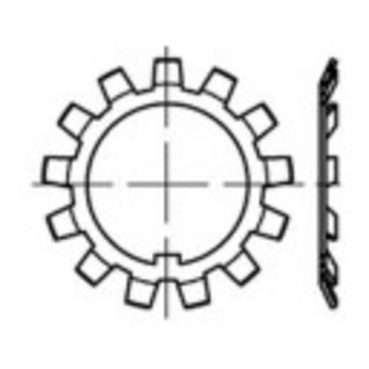TOOLCRAFT 137799 Stelmoeren Binnendiameter: 12 mm Buitendiameter: 25 mm DIN 5406 Staal 25 stuks