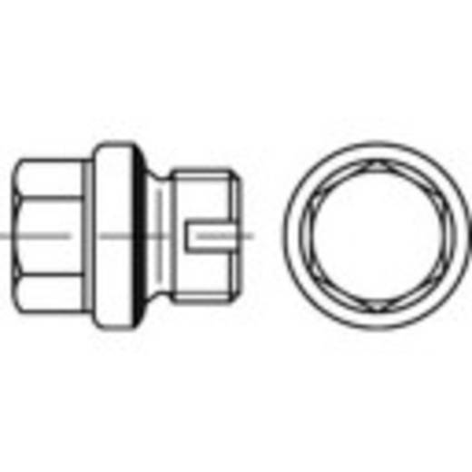 TOOLCRAFT 137834 Sluitschroeven 1/8 inch Buitenzeskant (inbus) DIN 5586 Staal galvanisch verzinkt, geel gechromateerd 100 stuks