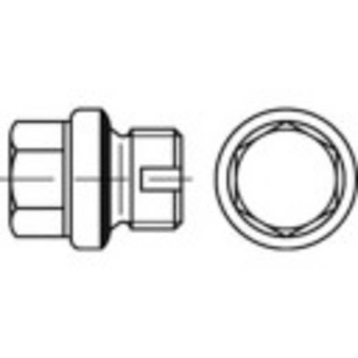 TOOLCRAFT 137838 Sluitschroeven 1 inch Buitenzeskant (inbus) DIN 5586 Staal galvanisch verzinkt, geel gechromateerd 25 stuks