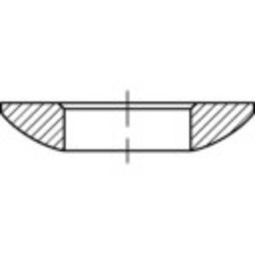 TOOLCRAFT 137921 Kogelschijven Binnendiameter: 21 mm DIN 6319 Staal galvanisch verzinkt 10 stuks
