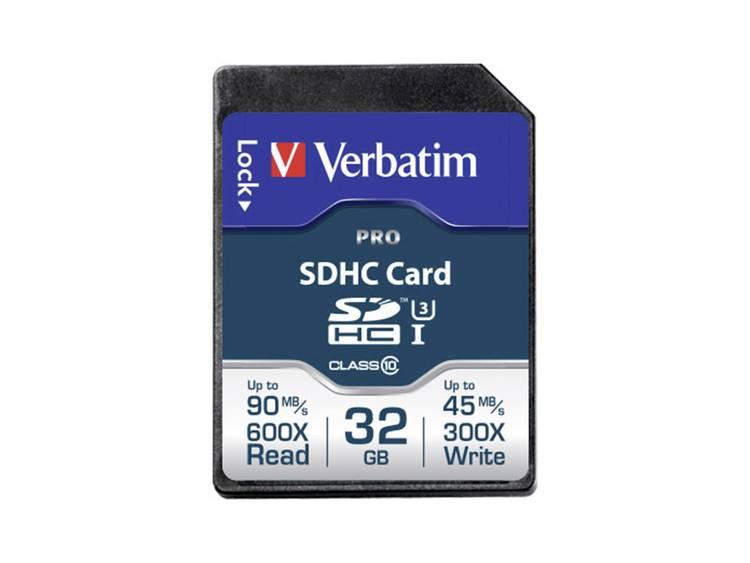 Verbatim PRO SDHC-kaart 32 GB Class 10 UHS-I, Class 10