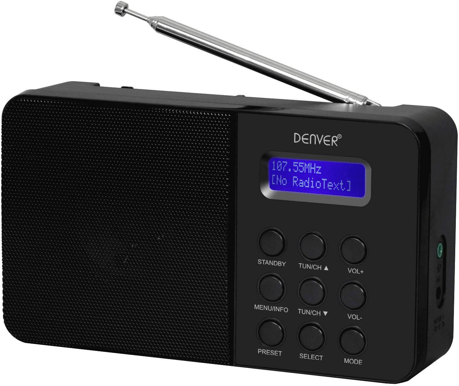 Oprindeligt Denver DAB-33 DAB+ Tafelradio DAB+, FM Zwart | Conrad.nl YT47
