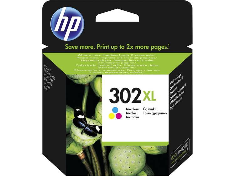 HP Inkt 302XL Origineel Cyaan, Magenta, Geel F6U67AE