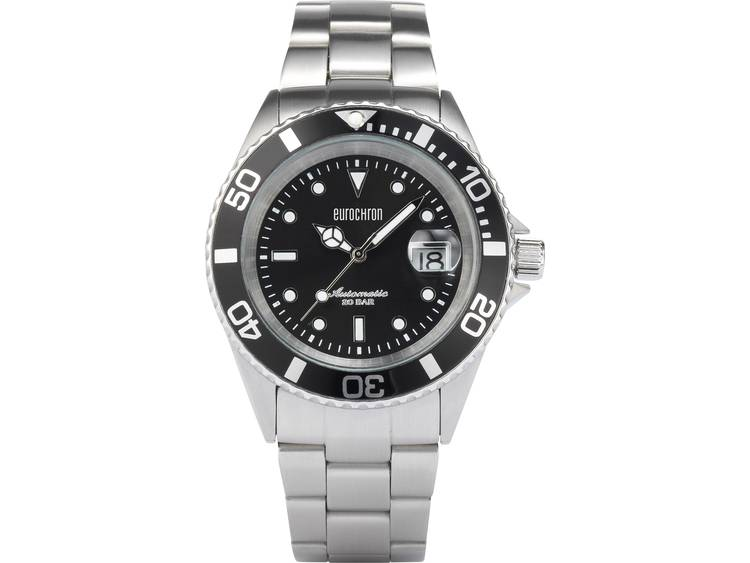 Eurochron EAU 100 Horloge (Ø) 42 mm RVS Materiaal (behuizing): RVS Materiaal (armband): RVS