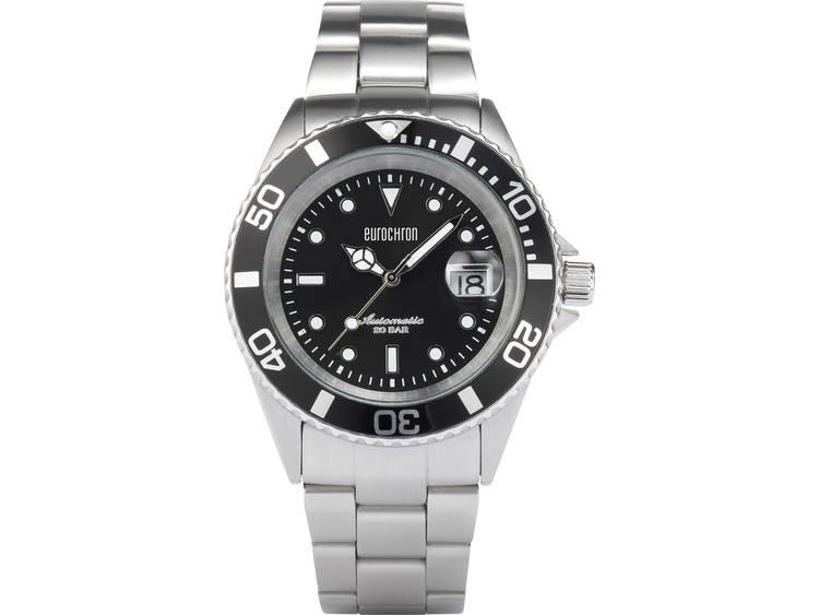 Eurochron Automatisch Horloge EAU 100 (Ø) 42 mm RVS Materiaal (behuizing): RVS Materiaal (armband): RVS