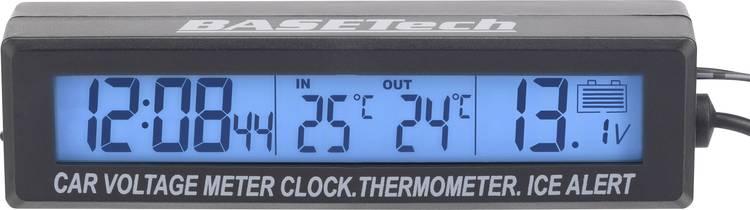 Image of EC88 Basetech Thermometer Opbouw, IJswaarschuwing, Kabelsensor, Binnentemperatuur, Buitentemperatuur, Voltmeter, 12/24 h-weergave -50 tot +70 C