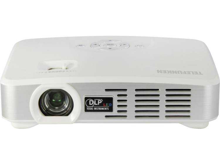 Telefunken DLP500 WIFI DLP Beamer Helderheid: 500 lm 1280 x 800 WXGA 1000 : 1 Wit