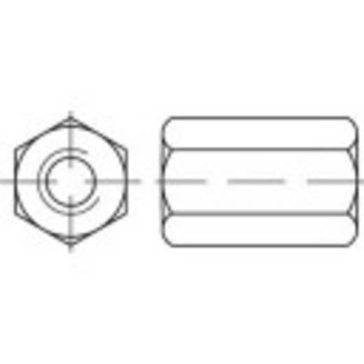 Zeskantmoeren M10 DIN 6334 Staal 50 stuks TOOLCRAFT 138222