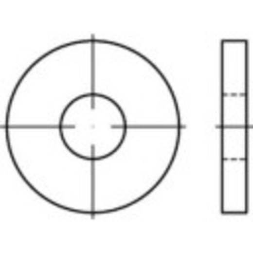 TOOLCRAFT 138260 Onderlegringen Binnendiameter: 10.5 mm DIN 6340 Staal 100 stuks