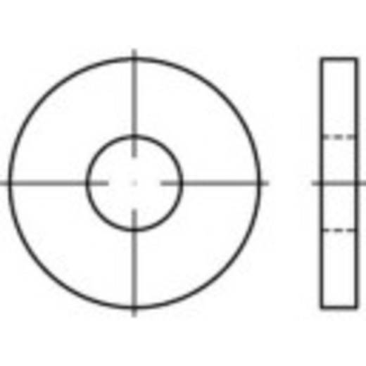 TOOLCRAFT 138277 Onderlegringen Binnendiameter: 25 mm DIN 6340 Staal galvanisch verzinkt 10 stuks