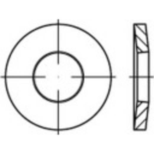 TOOLCRAFT 138306 Veerringen Binnendiameter: 10 mm DIN 6796 Verenstaal verzinkt, geel gechromateerd 100 stuks