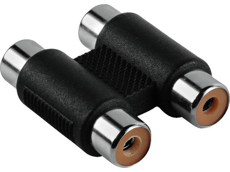 Hama Cinch Audio Adapter [2x Cinch-koppeling - 2x Cinch-koppeling] Zwart