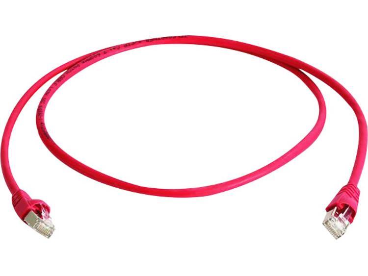 Netwerkkabel RJ45 cross CAT 6A S FTP 0.5 m Rood Vlambestendig Halogeenvrij Te