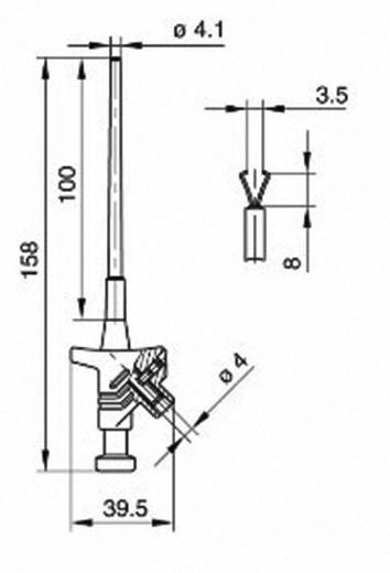 Miniatuur krokodilklem Steekaansluiting 4 mm CAT I Zwart SKS Hirschmann KLEPS 30
