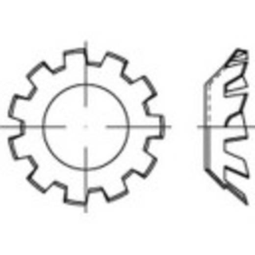 Tandwielen Binnendiameter: 8.4 mm DIN 6797 Verenstaal galvanisch verzinkt 100 stuks TOOLCRAFT 138396