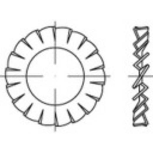 Lamellenschijven Binnendiameter: 15 mm DIN 6798 Verenstaal galvanisch verzinkt 100 stuks TOOLCRAFT 138460