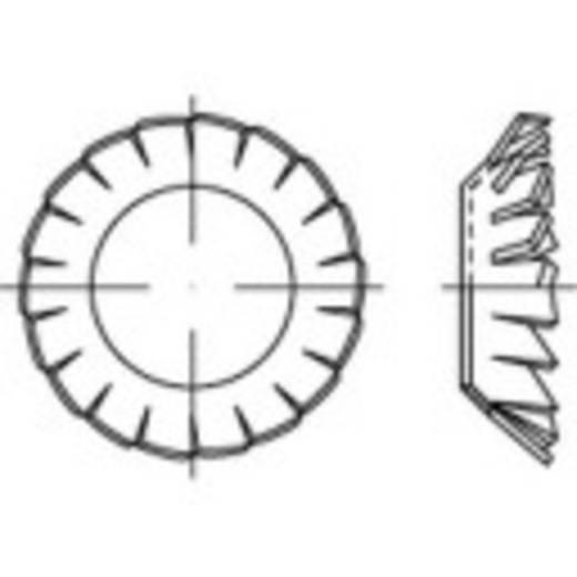 Lamellenschijven Binnendiameter: 13 mm DIN 6798 Verenstaal galvanisch verzinkt 100 stuks TOOLCRAFT 138496