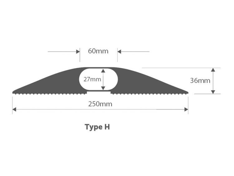 Vulcascot Kabelbrug Rubber Zwart Aantal kanalen: 1 1500 mm Inhoud: 1 stuks