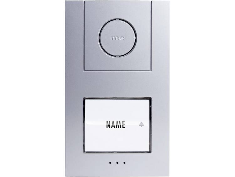 m-e modern-electronics 41004 Deurintercom Kabelgebonden Buitenunit voor 1 gezinswoning Zilver, Wit