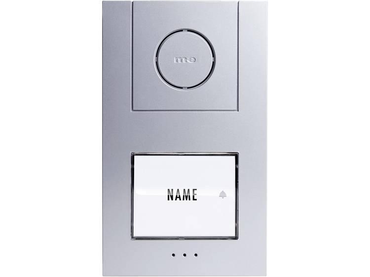 m-e modern-electronics 41004 Buitenunit voor Deurintercom Kabelgebonden 1 gezinswoning Zilver, Wit