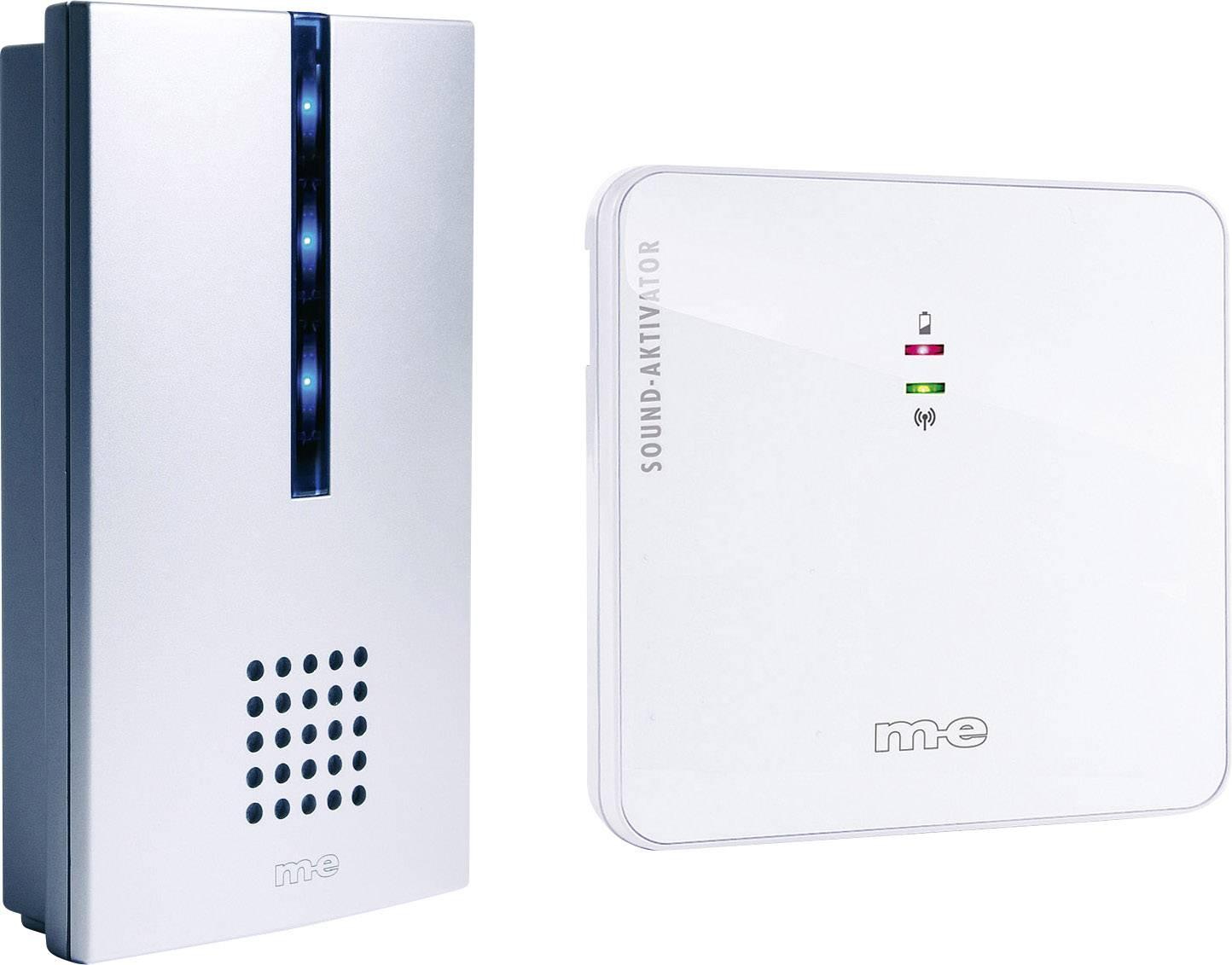 Draadloze Deurbel Met Extra Ontvanger.M E Modern Electronics 41018 Complete Set Voor Draadloze Deurbel