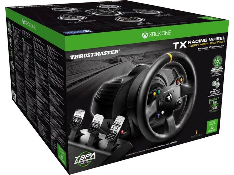 Stuur Thrustmaster TX Racing Wheel Leather Edition PC, Xbox One Zwart Incl. pedaal
