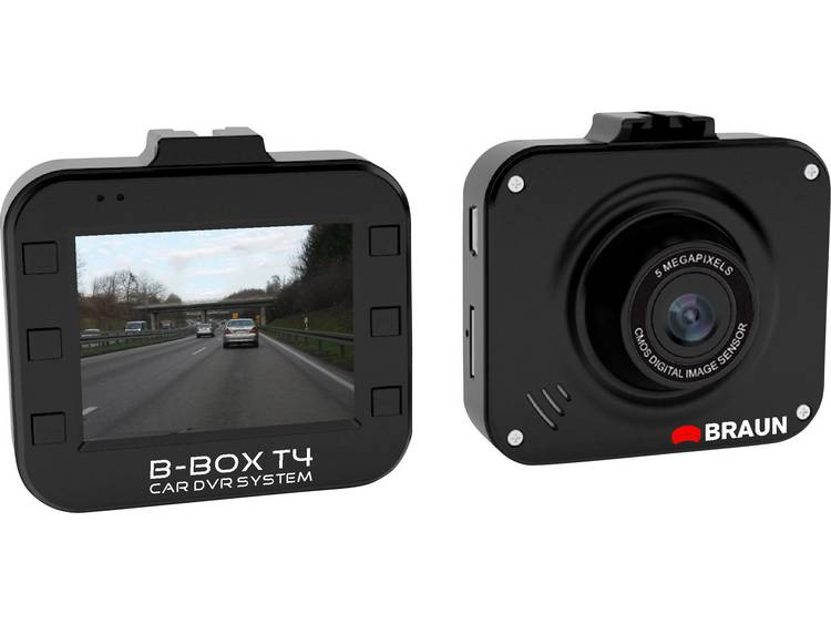Braun Germany B Box T4 Dashcam Kijkhoek horizontaal (max.) 120 ° 12 V Accu, Display, Microfoon