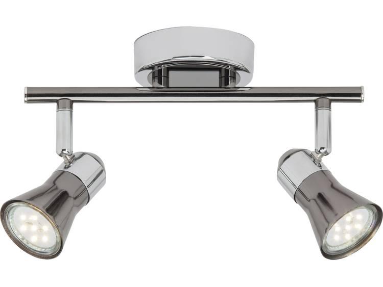 Plafondspot LED GU10 5 W Brilliant G18313-76 Chroom, Zwart
