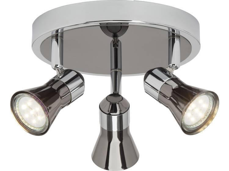 Plafondspot LED GU10 7.5 W Brilliant G18334-76 Chroom, Zwart