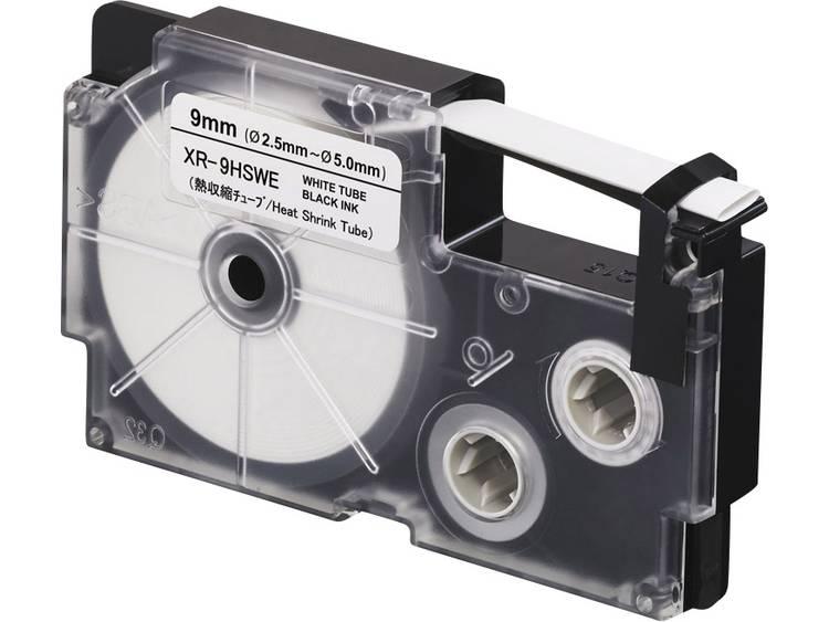 Labeltape krimpkous Casio XR XR 9HSWE Polyolefine Tapekleur Wit TekstkleurZwar