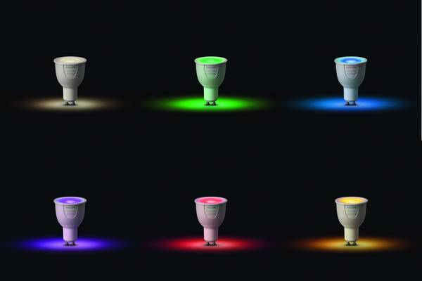 Philips Hue Lampen Gu10.Philips Lighting Hue Starterkit White And Color Ambiance Gu10 6 5 W