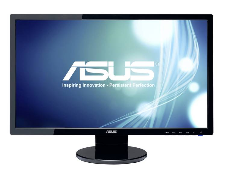 LED-monitor 61 cm (24 inch) Asus VE248HR Energielabel A++ 1920 x 1080 pix Full HD 1 ms HDMI, VGA, DVI, Audio, 5.1 (3.5 mm jackplug), Hoofdtelefoon (3.5 mm