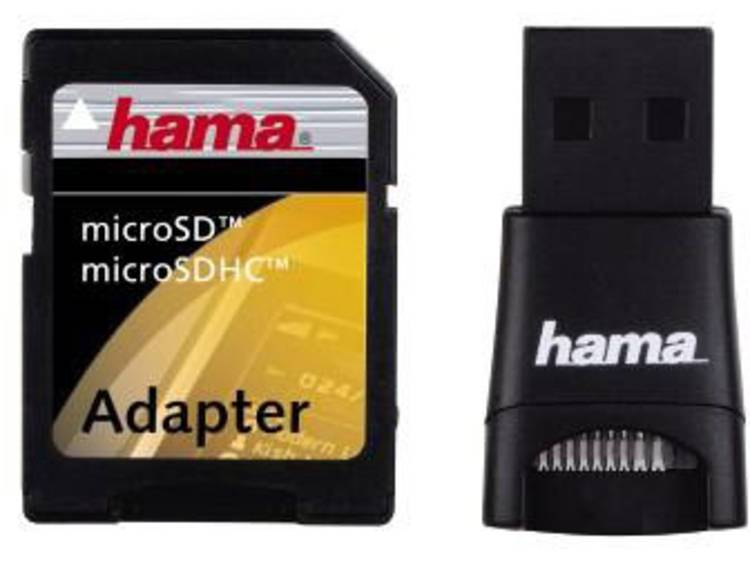 Hama 91047 Externe geheugenkaartlezer USB 2.0 Zwart