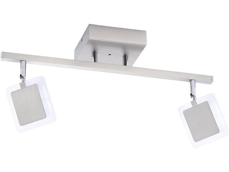 LED-plafondspot 9.6 W Warmwit, RGB Paul Neuhaus Vidal 6070-55 RVS