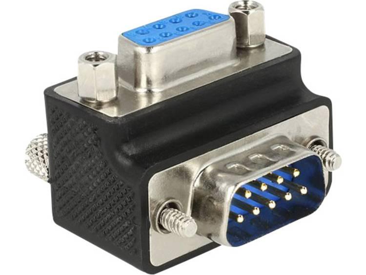 Delock Serieel Adapter [1x D sub stekker 9 polig 1x D sub bus 9 polig] Zwart