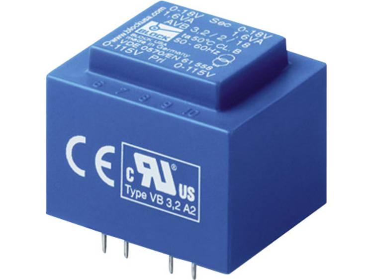 Block AVB 3,2/2/6 Printtransformator 2 x 115 V 2 x 6 V/AC 3.20 VA 266 mA