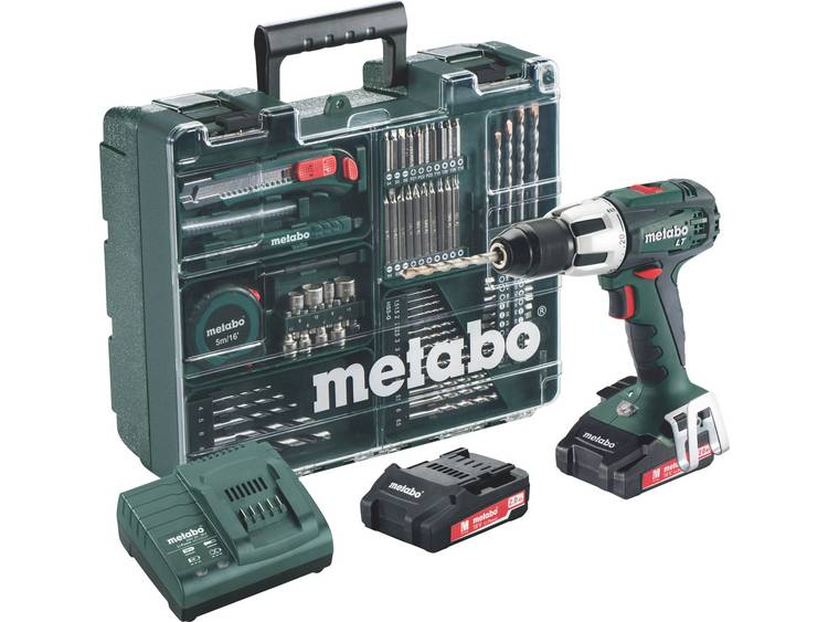 Accuklopboor/schroefmachine Metabo SB 18 LT Incl. 2 accus, Incl. koffer, Incl. accessoires 18 V 2 Ah Li-ion