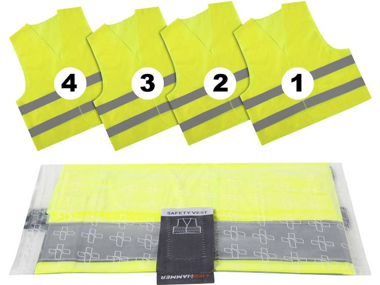 LifeHammer SAFETY VEST ULTRA Helder geel, Zilver (reflecterend)