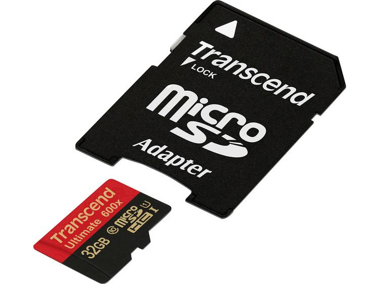 Transcend Ultimate (600x) microSDHC-kaart 32 GB Class 10, UHS-I incl. SD-adapter