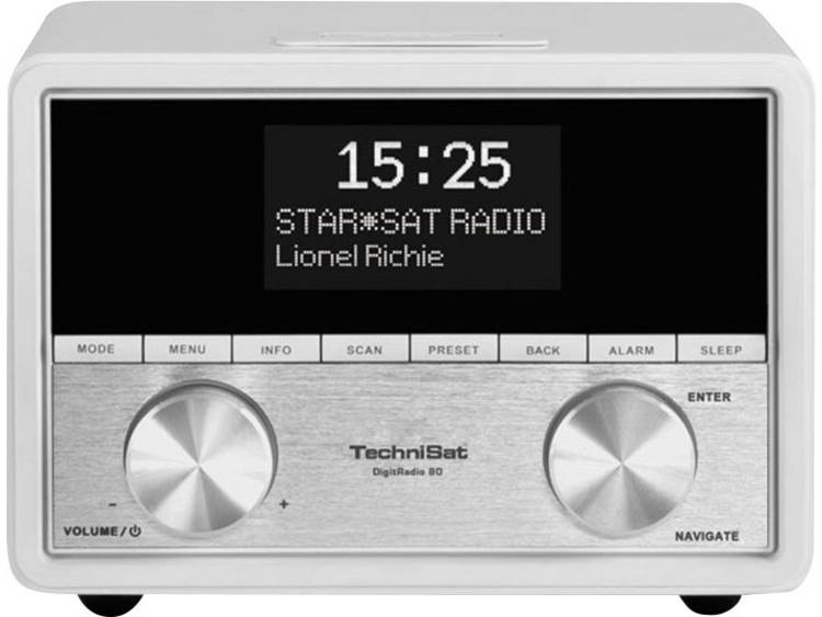 TechniSat DigitRadio 80 DAB+ radio Wekkerradio Wit