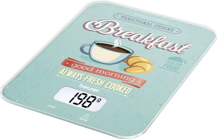 Image of Digitale keukenweegschaal Digitaal Beurer KS-19 Breakfast Weegbereik (max.)=5 kg Mint, Bont