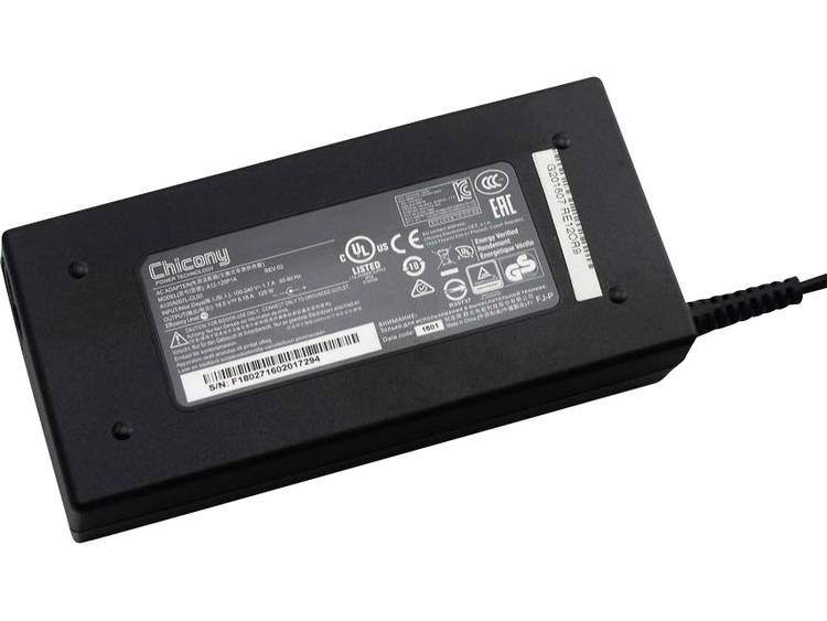 Laptop netvoeding Clevo A120A007L 120 W 19.5 V/DC 6.15 A