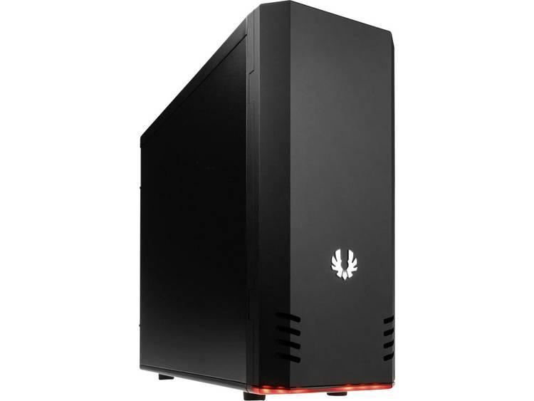 Midi-tower PC-behuizing Bitfenix Shadow Midi-Tower Zwart Geïntegreerde verlichting, Zijvenster, 1 voorgeïnstalleerde ventilator