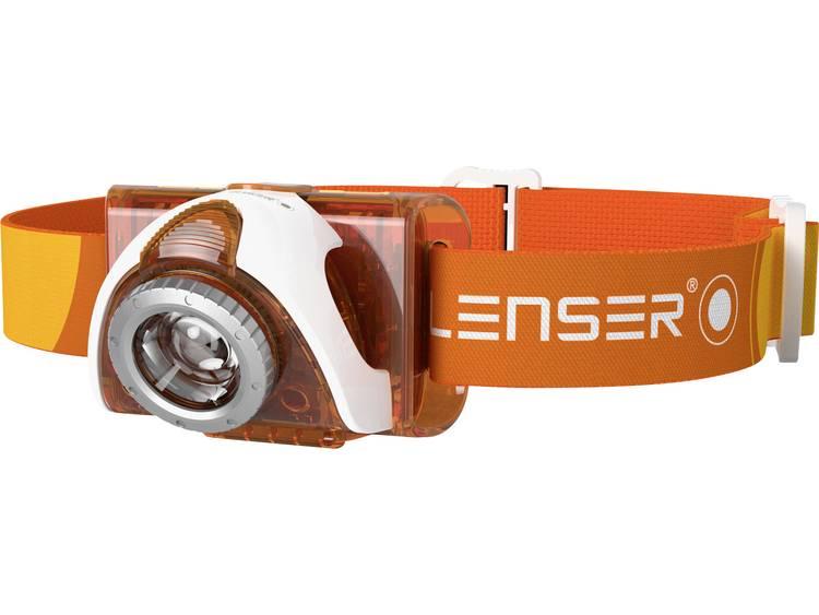 LED Lenser LED Hoofdlamp Oranje Werkt op batterijen
