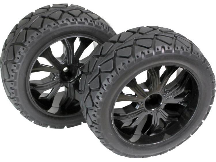 Absima 1:10 Buggy Complete wielen 5-spaaks Zwart 1 stuks