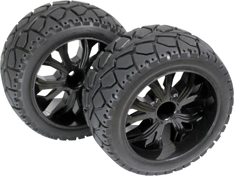 Absima 1:10 Buggy Complete wielen 5-spaaks Zwart 1 paar